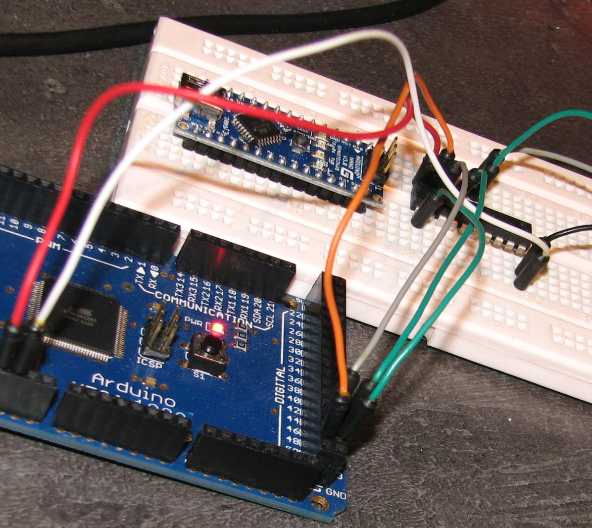 ATMega1280 arduino as avrisp